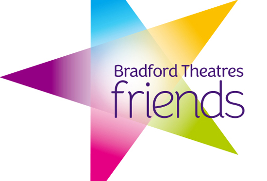 Bradford Theatres Friends logo – multi coloured star on a white background