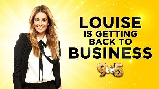 Louise Redknapp yellow background