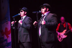 THE CHICAGO BLUES BROTHERS ON A 'MOTOWN MISSION' AT THE ALHAMBRA THEATRE, BRADFORD
