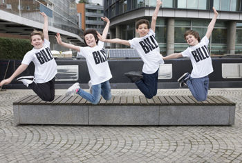 The four boys announced to play title role in the UK tour of Billy Elliot the Musical