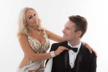 Strictly Come Dancing's  Kristina Rihanoff & Tristan MacManus dance their way to King's Hall, Ilkley