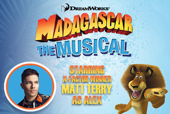 Matt Terry – Winner of 2016's X-Factor is announced to play Alex The Lion in Madagascar – The Musical
