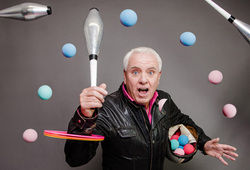 "Photo for Dave Spikey ""Juggling on a Motorbike"""